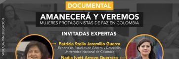 Cine foro CISE ve: documental amanecerá y veremos: mujeres constructoras de paz